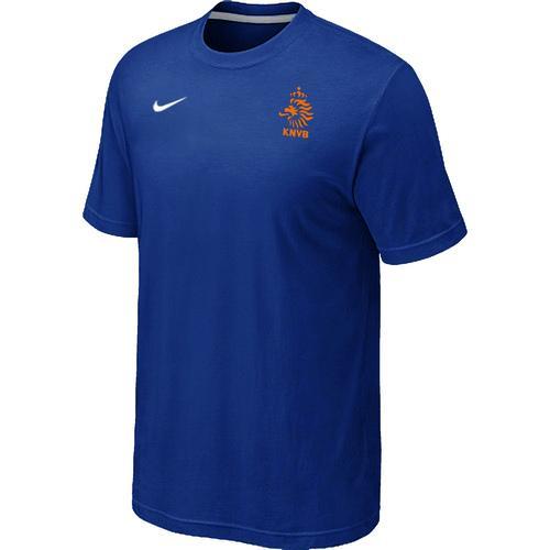 Nike Holland 2014 World Small Logo Soccer T-Shirt Blue