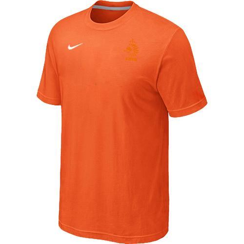 Nike Holland 2014 World Small Logo Soccer T-Shirt Orange