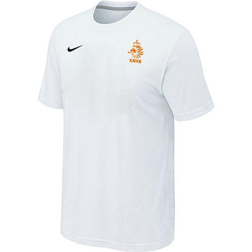 Nike Holland 2014 World Small Logo Soccer T-Shirt White