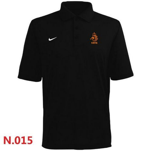 Nike Holland 2014 World Soccer Authentic Polo Black