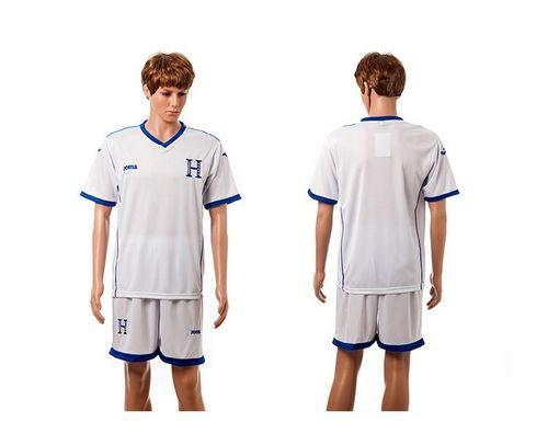 Honduras Blank White Home Soccer Country Jersey