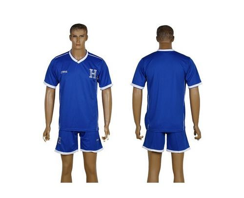 Honduras Blank Blue Away Soccer Country Jersey