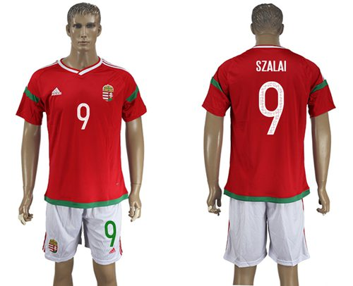 Hungary #9 Szalai Home Soccer Country Jersey