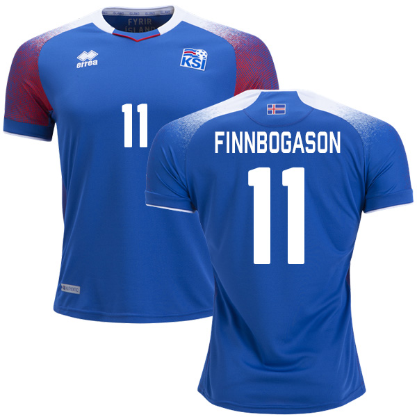 Iceland #11 Finnbogason Home Soccer Country Jersey