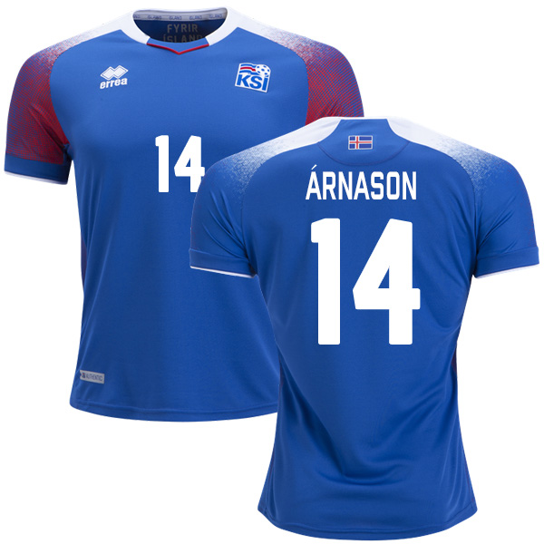 Iceland #14 Arnason Home Soccer Country Jersey