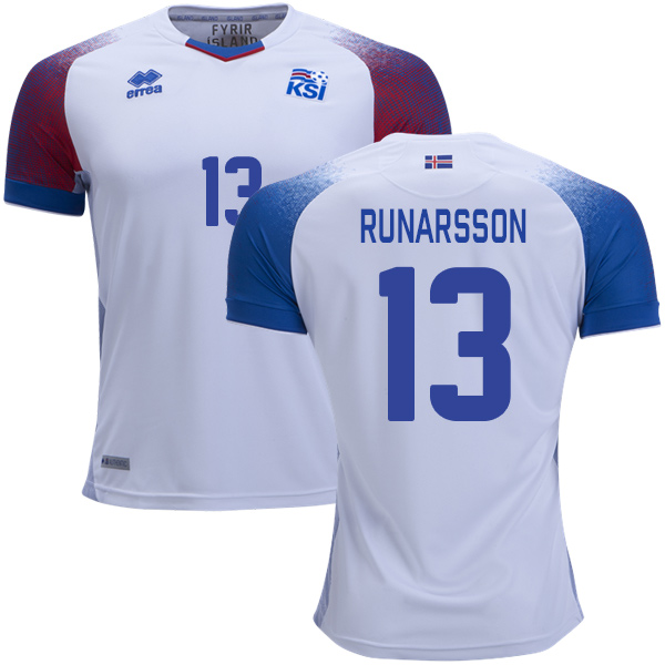Iceland #13 Runarsson Away Soccer Country Jersey