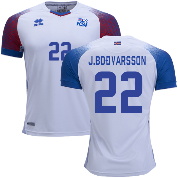 Iceland #22 J.Bodvarsson Away Soccer Country Jersey
