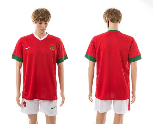 Indonesia Blank Red Home Soccer Country Jersey