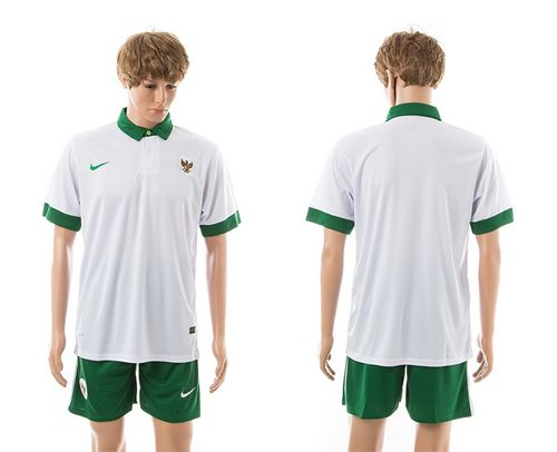 Indonesia Blank White Away Soccer Country Jersey