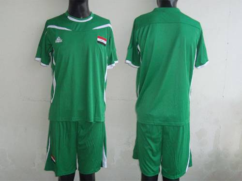 Iraq Blank Green 2011/2012 Soccer Country Jersey