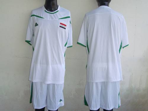 Iraq Blank White 2011/2012 Soccer Country Jersey