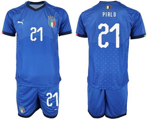 Italy #21 Pirlo Home Soccer Country Jersey
