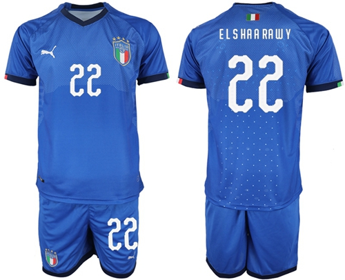 Italy #22 El Shaarawy Home Soccer Country Jersey