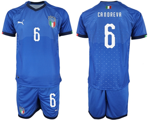Italy #6 Candreva Home Soccer Country Jersey