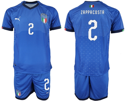 Italy #2 Zappacosta Home Soccer Country Jersey
