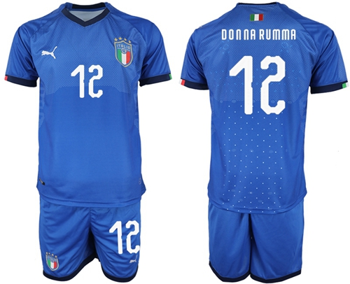Italy #12 Donna Rumma Home Soccer Country Jersey