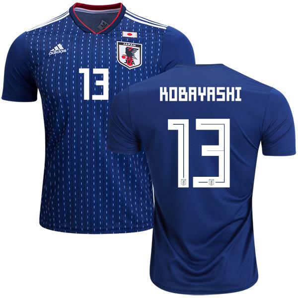 Japan #13 Kobayashi Home Soccer Country Jersey