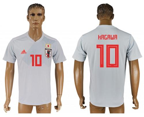 Japan #10 Kagawa Away Soccer Country Jersey