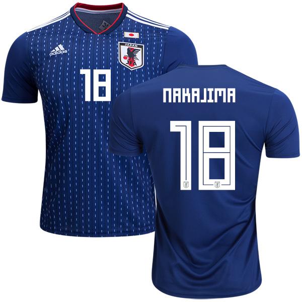 Japan #18 Nakajima Home Soccer Country Jersey