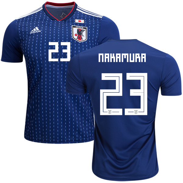 Japan #23 Nakamura Home Soccer Country Jersey