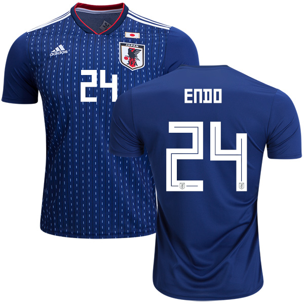 Japan #24 Endo Home Soccer Country Jersey
