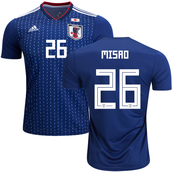 Japan #26 Misao Home Soccer Country Jersey