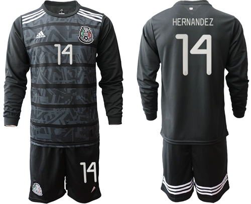 Mexico #14 Hernandez Home Long Sleeves Soccer Country Jersey