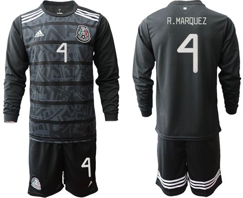 Mexico #4 R.Marquez Home Long Sleeves Soccer Country Jersey