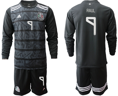 Mexico #7 Raul Home Long Sleeves Soccer Country Jersey