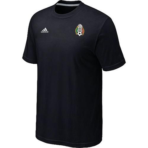 Adidas Mexico 2014 World Small Logo Soccer T-Shirt Black