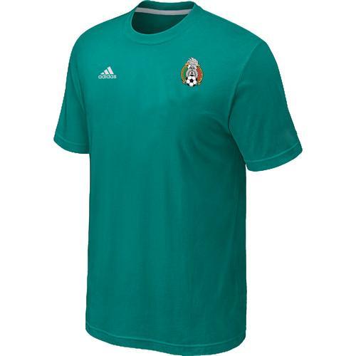 Adidas Mexico 2014 World Small Logo Soccer T-Shirt Green