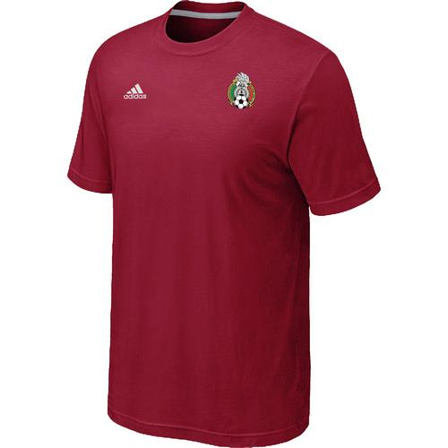 Adidas Mexico 2014 World Small Logo Soccer T-Shirt Red