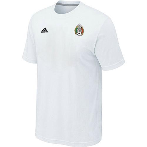 Adidas Mexico 2014 World Small Logo Soccer T-Shirt White