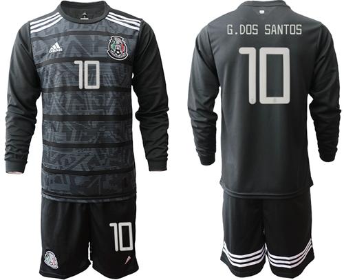 Mexico #10 G.Dos Santos Home Long Sleeves Soccer Country Jersey