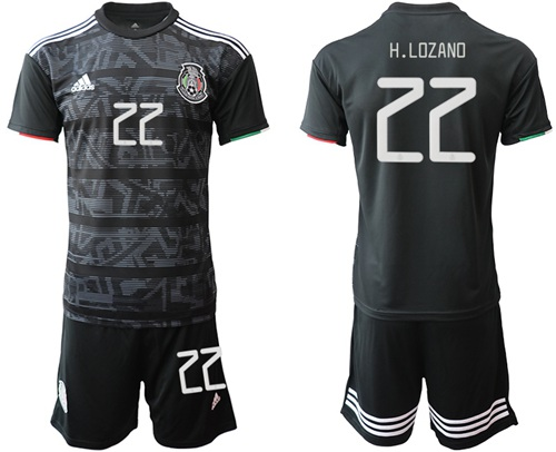 Mexico #22 H.Lozano Home Soccer Country Jersey