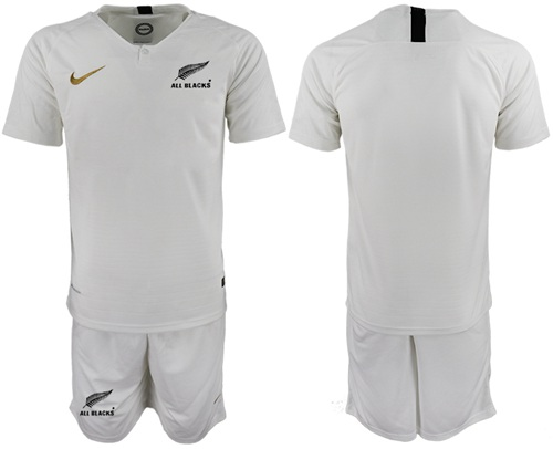 New Zealand Blank White Home Soccer Country Jersey
