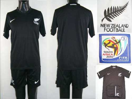 New Zealand Blank Black Away Soccer Country Jersey