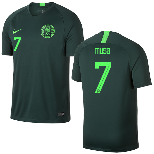 Nigeria #7 Musa Away Soccer Country Jersey