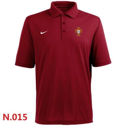 Nike Portugal 2014 World Soccer Authentic Polo Red