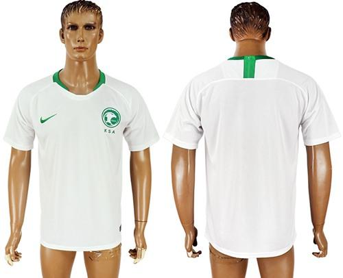 Saudi Arabia Blank Home Soccer Country Jersey