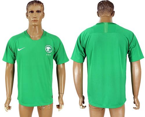 Saudi Arabia Blank Away Soccer Country Jersey