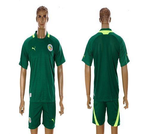 Senegal Blank 2012/2013 Green Away Soccer Country Jersey