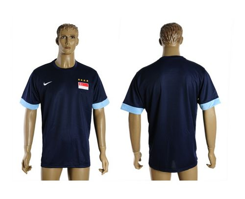 Singapore Blank Blue Soccer Country Jersey