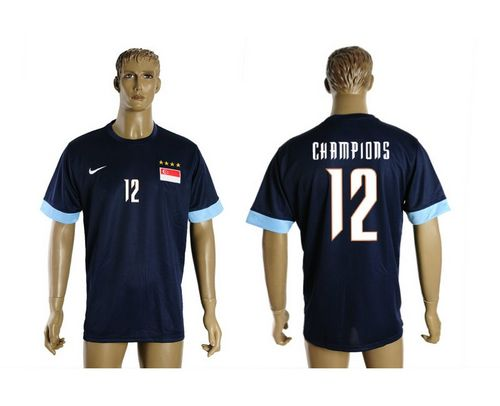 Singapore #12 Champions Blue Soccer Country Jersey