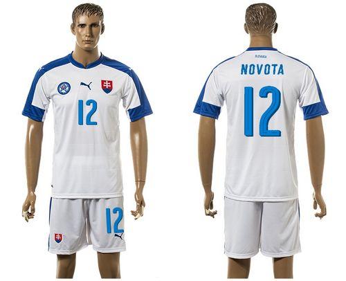 Slovakia #12 Novota Home Soccer Country Jersey