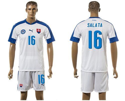 Slovakia #16 Salata Home Soccer Country Jersey