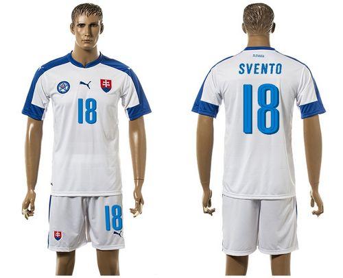 Slovakia #18 Svento Home Soccer Country Jersey