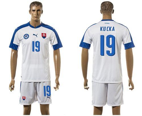 Slovakia #19 Kucka Home Soccer Country Jersey