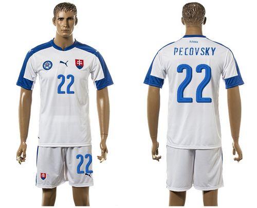 Slovakia #22 Pecovsky Home Soccer Country Jersey