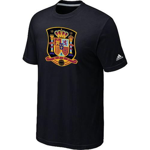 Adidas Spain 2014 World Short Sleeves Soccer T-Shirt Black